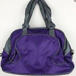 LULULEMON everywhere duffel bag purple gray EEUC
